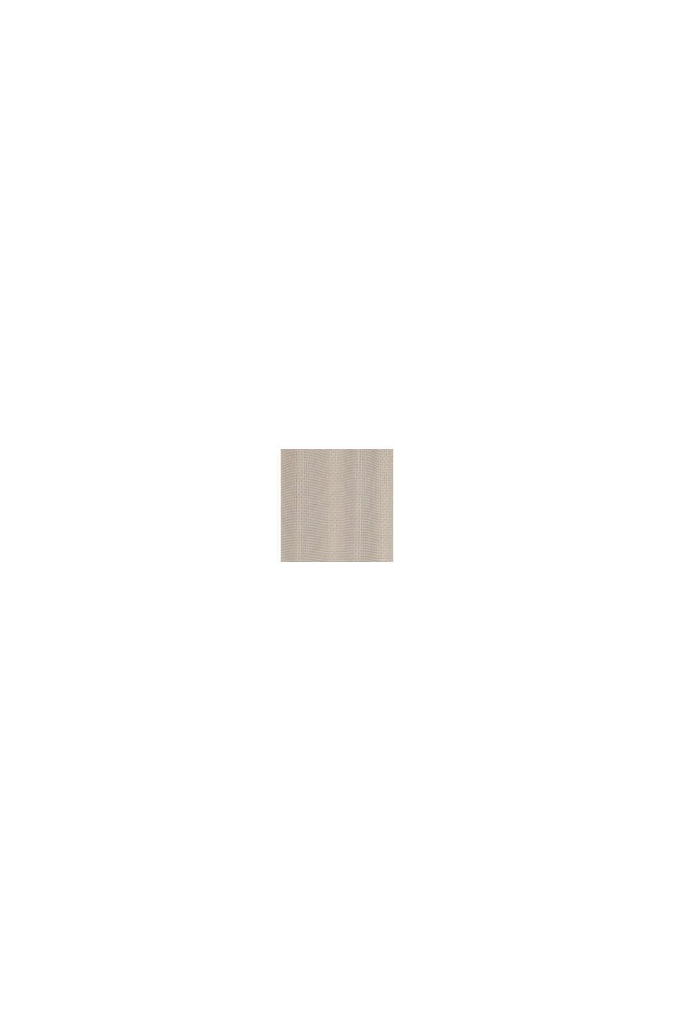 Reciclada: cortina de ojales con textura de cuadros, BEIGE, swatch