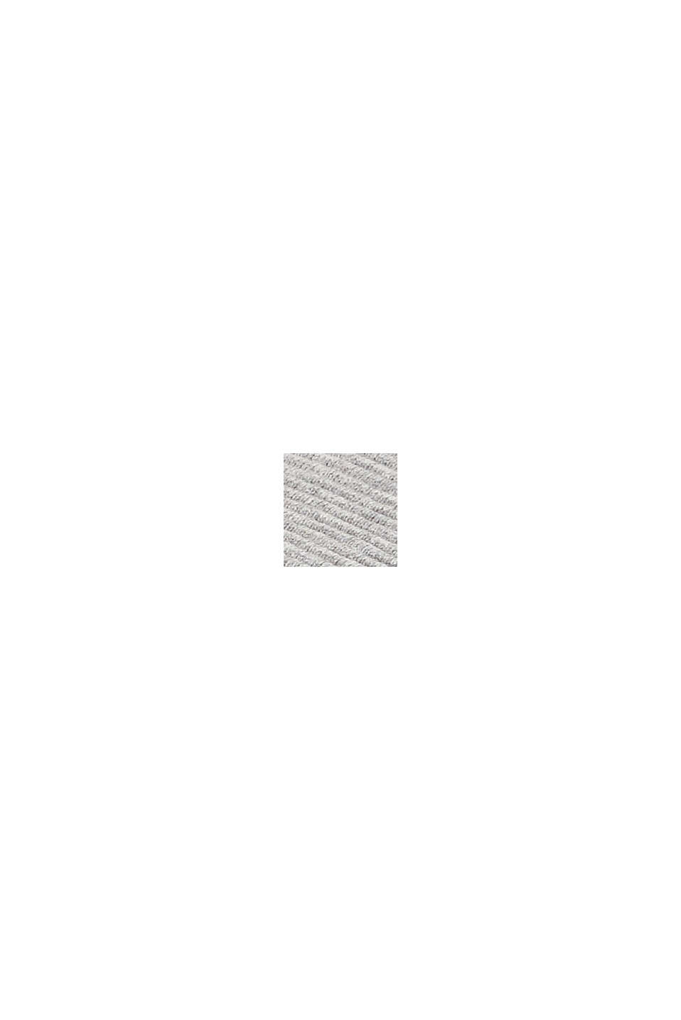 Plaid van gestructureerd breisel, 100% katoen, GREY, swatch