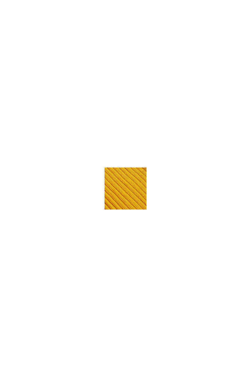 Plaid van gestructureerd breisel, 100% katoen, YELLOW, swatch