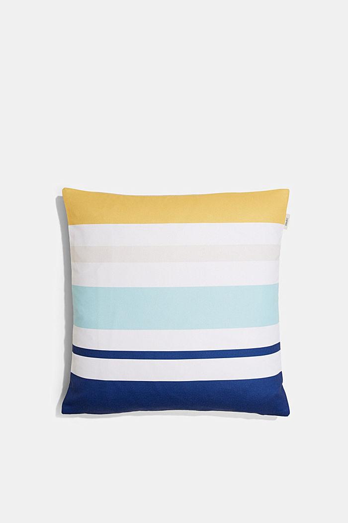 Kissenhülle mit bunten Streifen, BLUE, detail image number 0