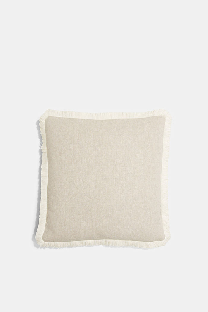 Cushion cover with fringed borders