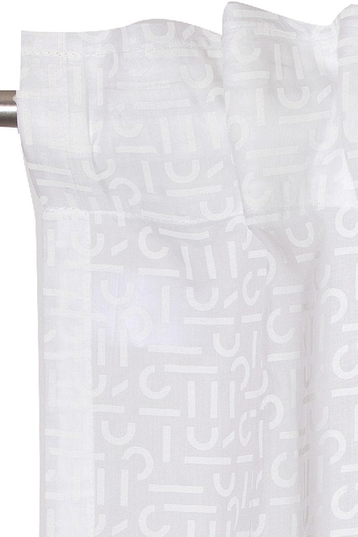 Monogram pattern curtain