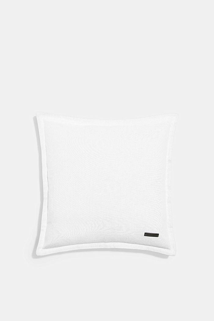 Kaksivärinen tyynynpäällinen, 100 % puuvillaa, WHITE, detail image number 0