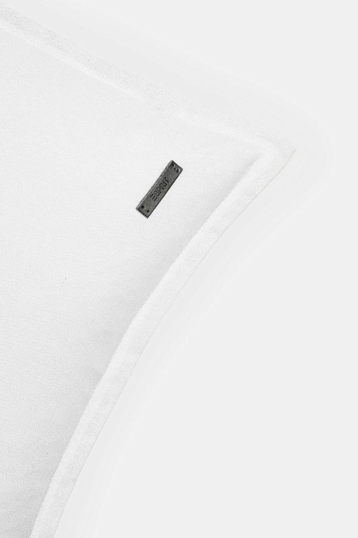 Kaksivärinen tyynynpäällinen, 100 % puuvillaa, WHITE, detail image number 1