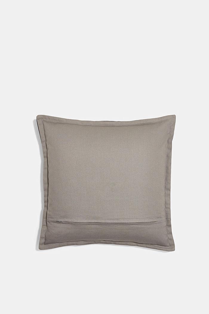 Housse de coussin bicolore en 100% coton, BLACK, detail image number 2