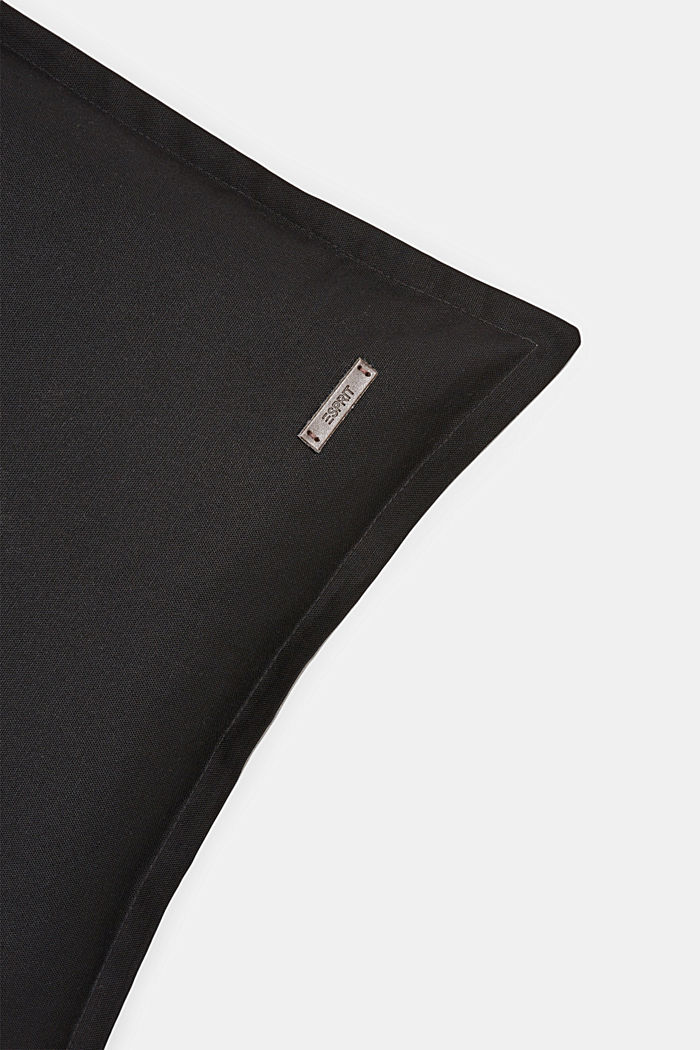 Zweifarbige Kissenhülle aus 100% Baumwolle