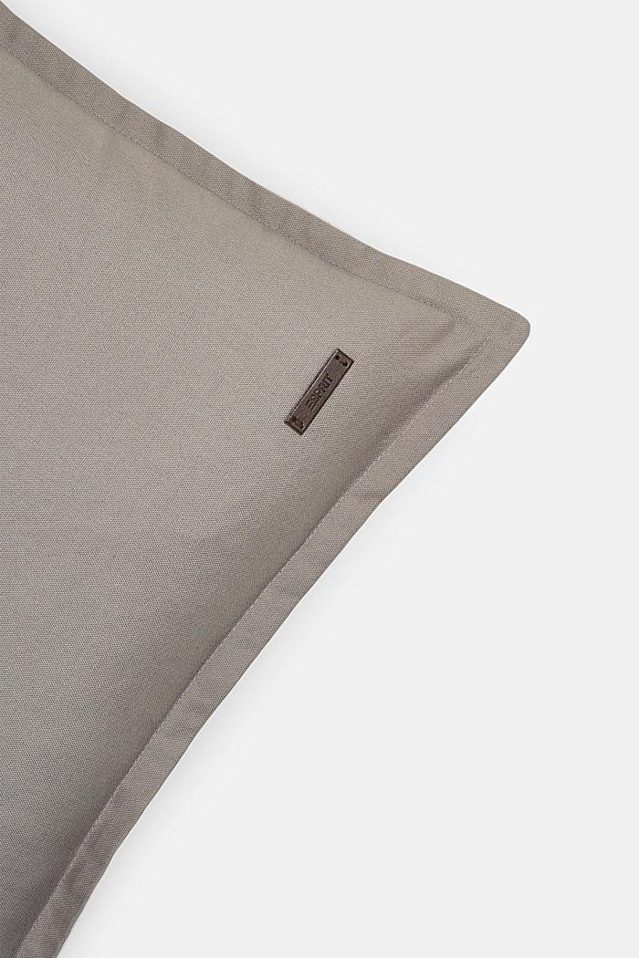 Tweekleurige kussenhoes van 100% katoen, DARK GREY, detail image number 1
