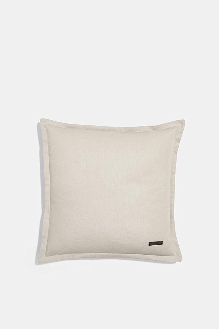 Zweifarbige Kissenhülle aus 100% Baumwolle, LIGHT GREY, detail image number 0