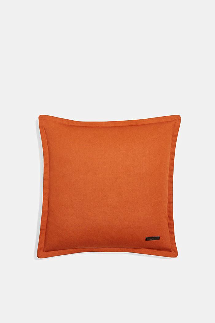 Zweifarbige Kissenhülle aus 100% Baumwolle, COPPER, detail image number 0