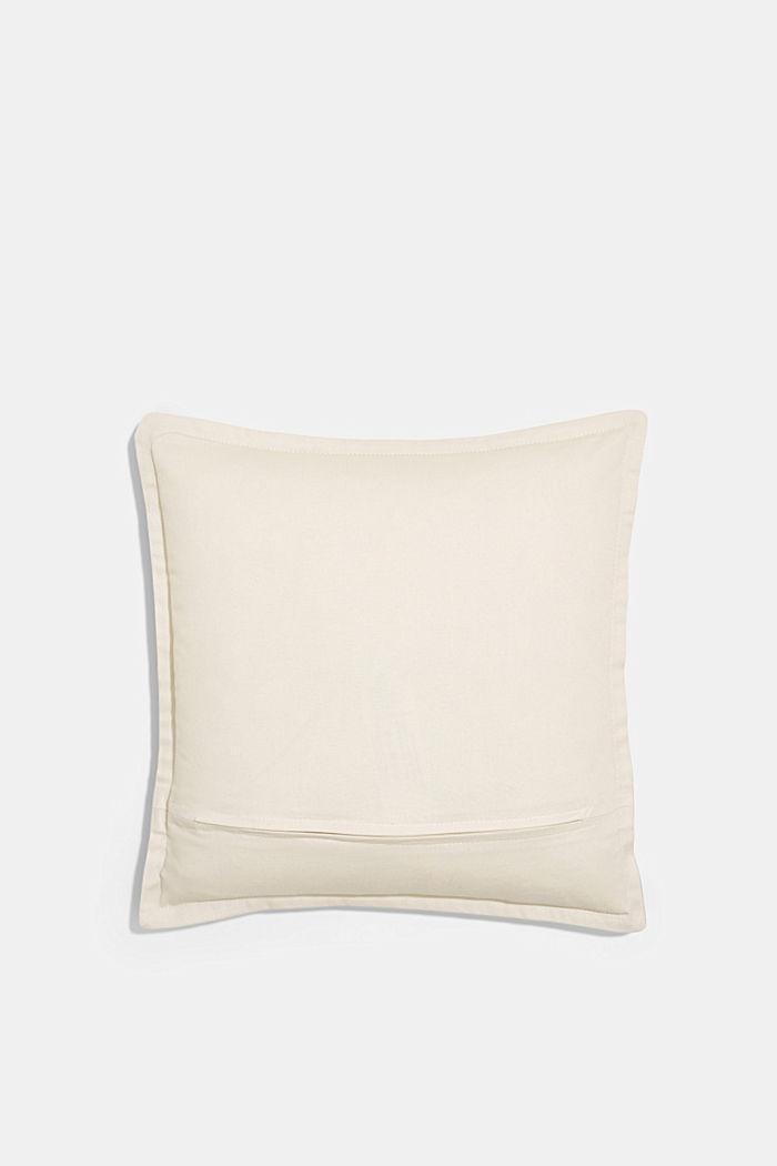 Housse de coussin bicolore en 100% coton, AQUA, detail image number 2