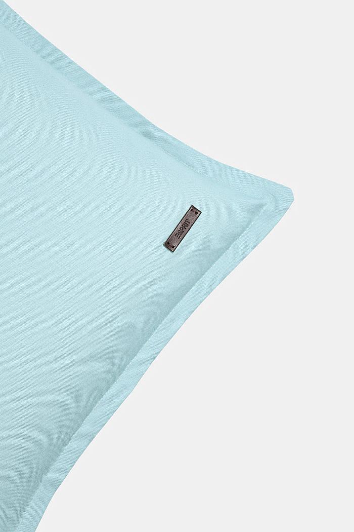 Housse de coussin bicolore en 100% coton, AQUA, detail image number 1