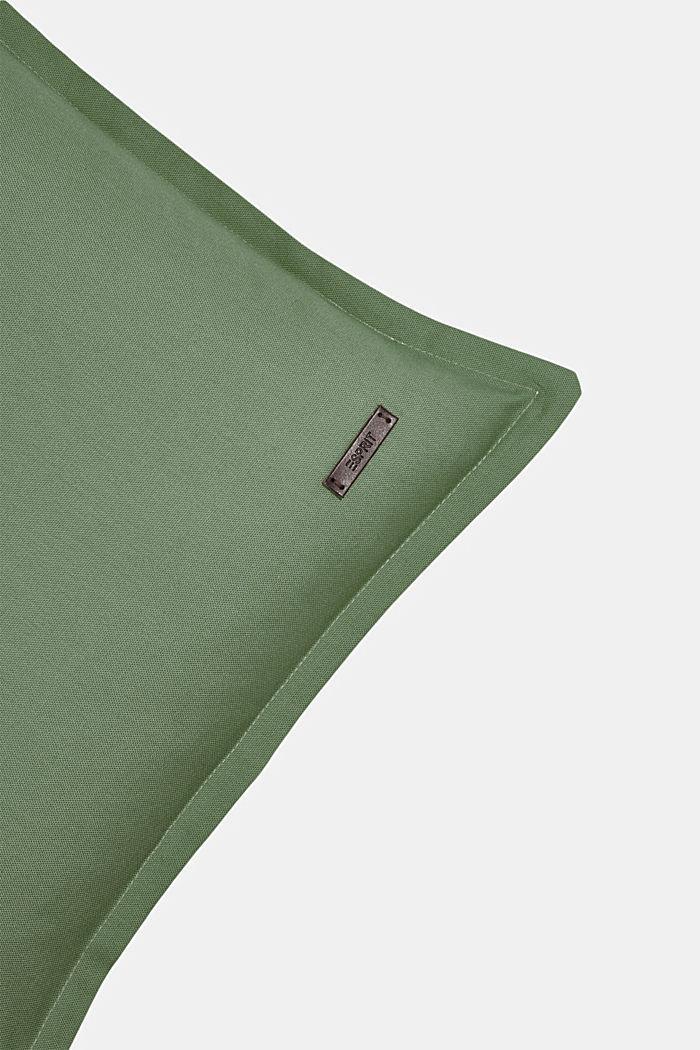 Housse de coussin bicolore en 100% coton, GREEN, detail image number 1