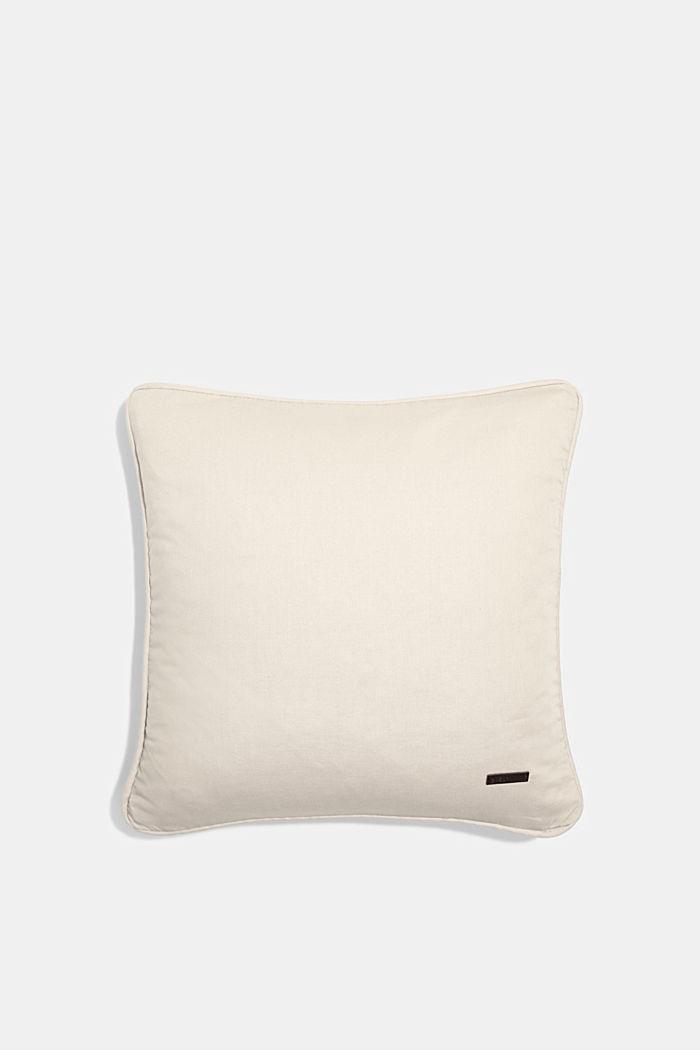 Housse de coussin 100 % coton, BEIGE, detail image number 0