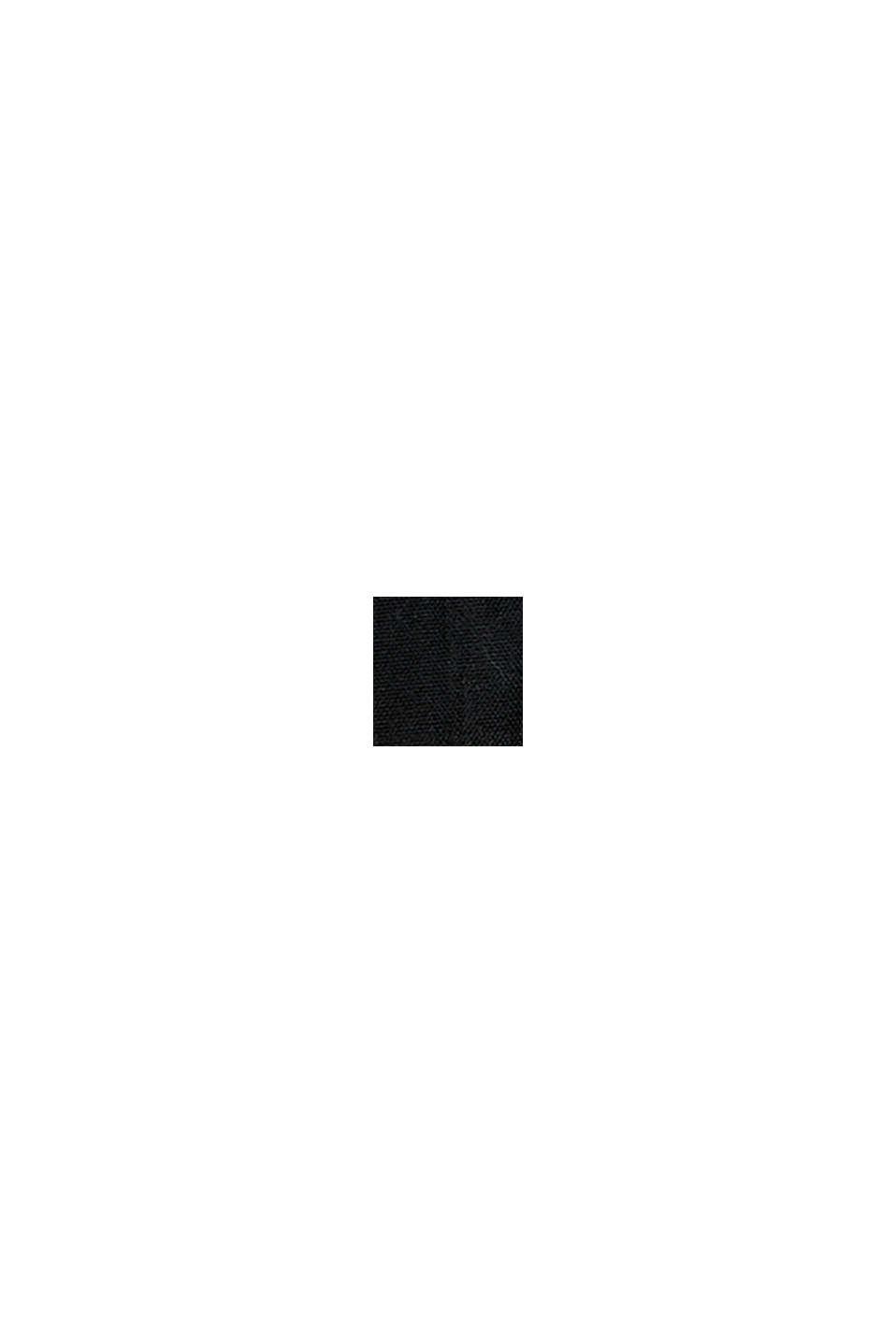 Vorhangschal mit verdeckten Schlaufen, BLACK, swatch