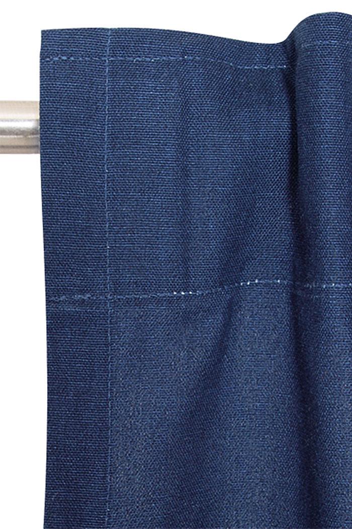 Vorhangschal mit verdeckten Schlaufen, NAVY, detail image number 1