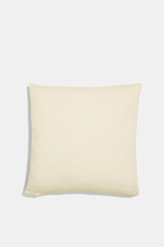 Striped cushion cover made of 100% cotton, YELLOW, detail image number 2