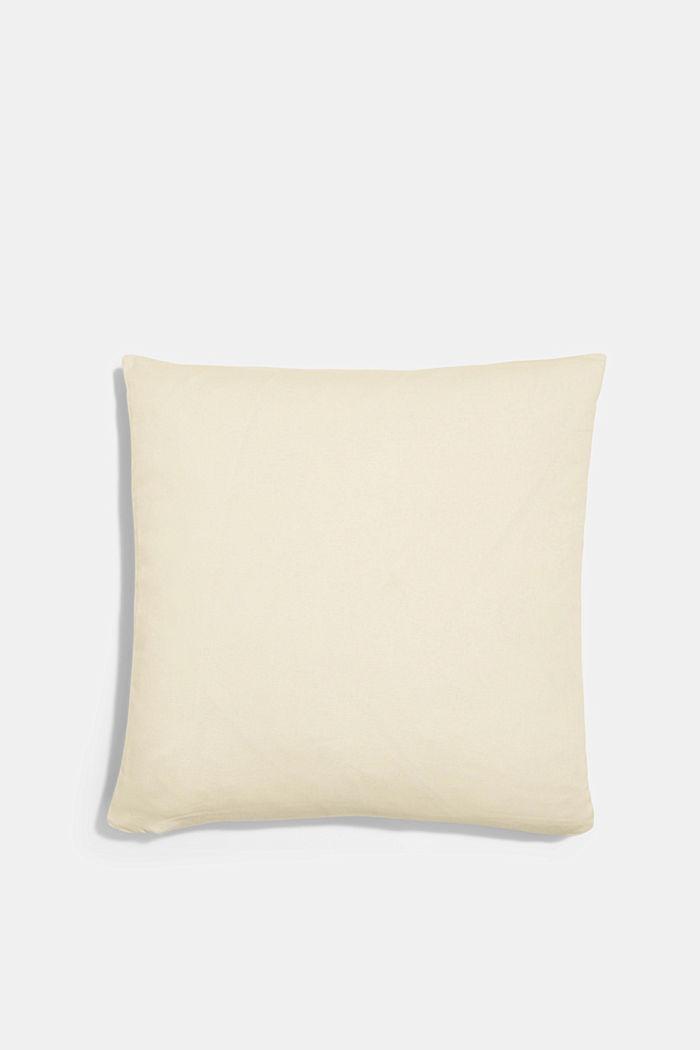 Housse de coussin à rayures en 100% coton, MAUVE, detail image number 2