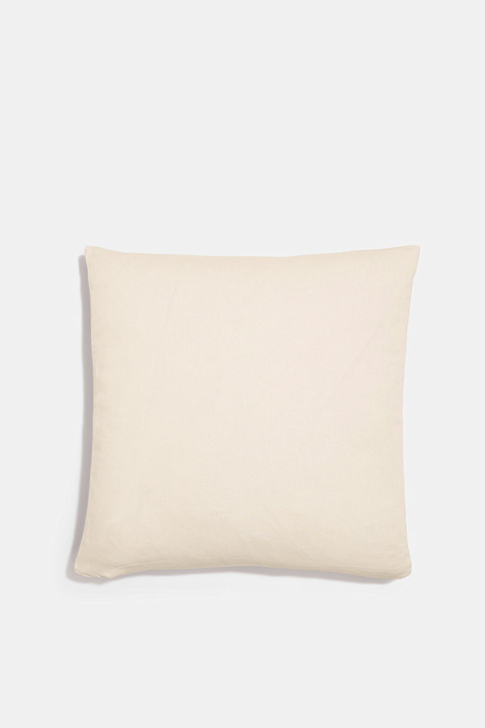 Gestreifte Kissenhülle aus 100% Baumwolle, NAVY, detail image number 2