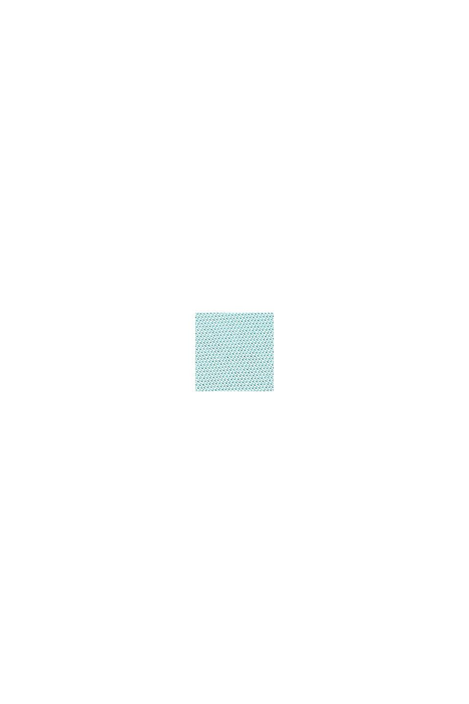 Striped cushion cover made of 100% cotton, AQUA, swatch