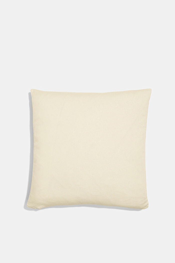 Striped cushion cover made of 100% cotton, GREEN, detail image number 2