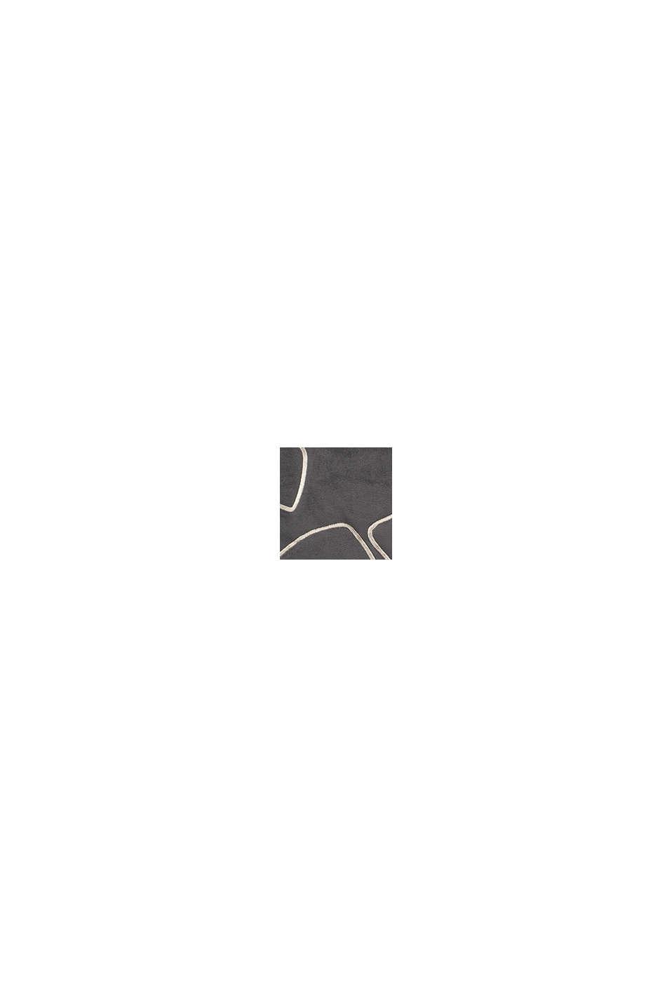 Kussenhoes van fluweel met borduursel, GREY, swatch