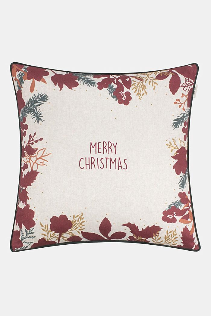 Kussenhoes met kerstmotief