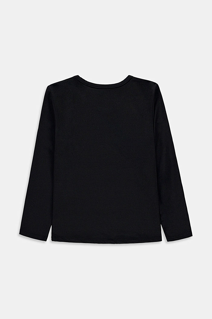 Active long sleeve top with a print, BLACK, detail image number 1