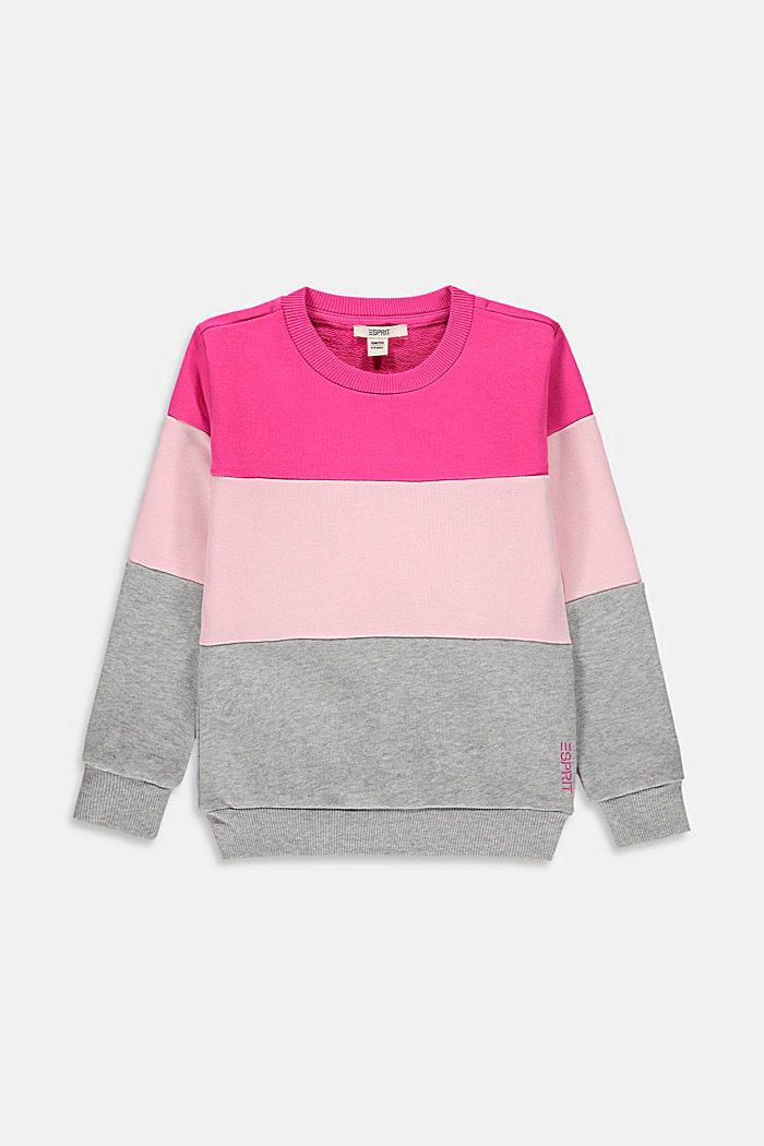 Color Block-Sweatshirt aus 100% Baumwolle
