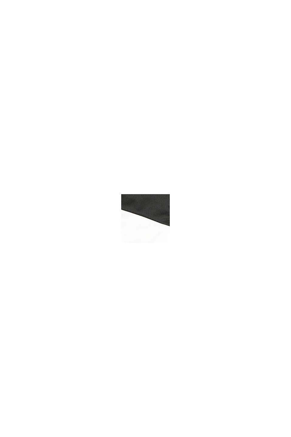 Giacca in felpa a blocchi di colore, BLACK, swatch