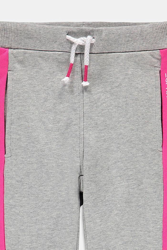 Sweathose mit Color Block, 100% Baumwolle, MEDIUM GREY, detail image number 2