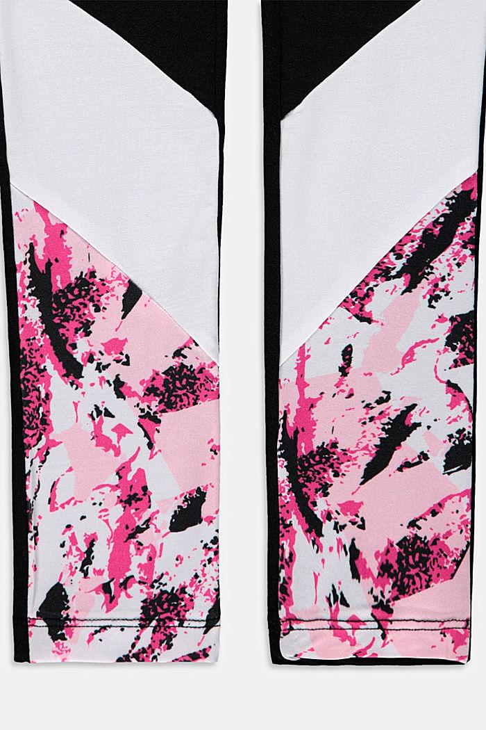 Activewear leggings with colour blocking, BLACK, detail image number 2