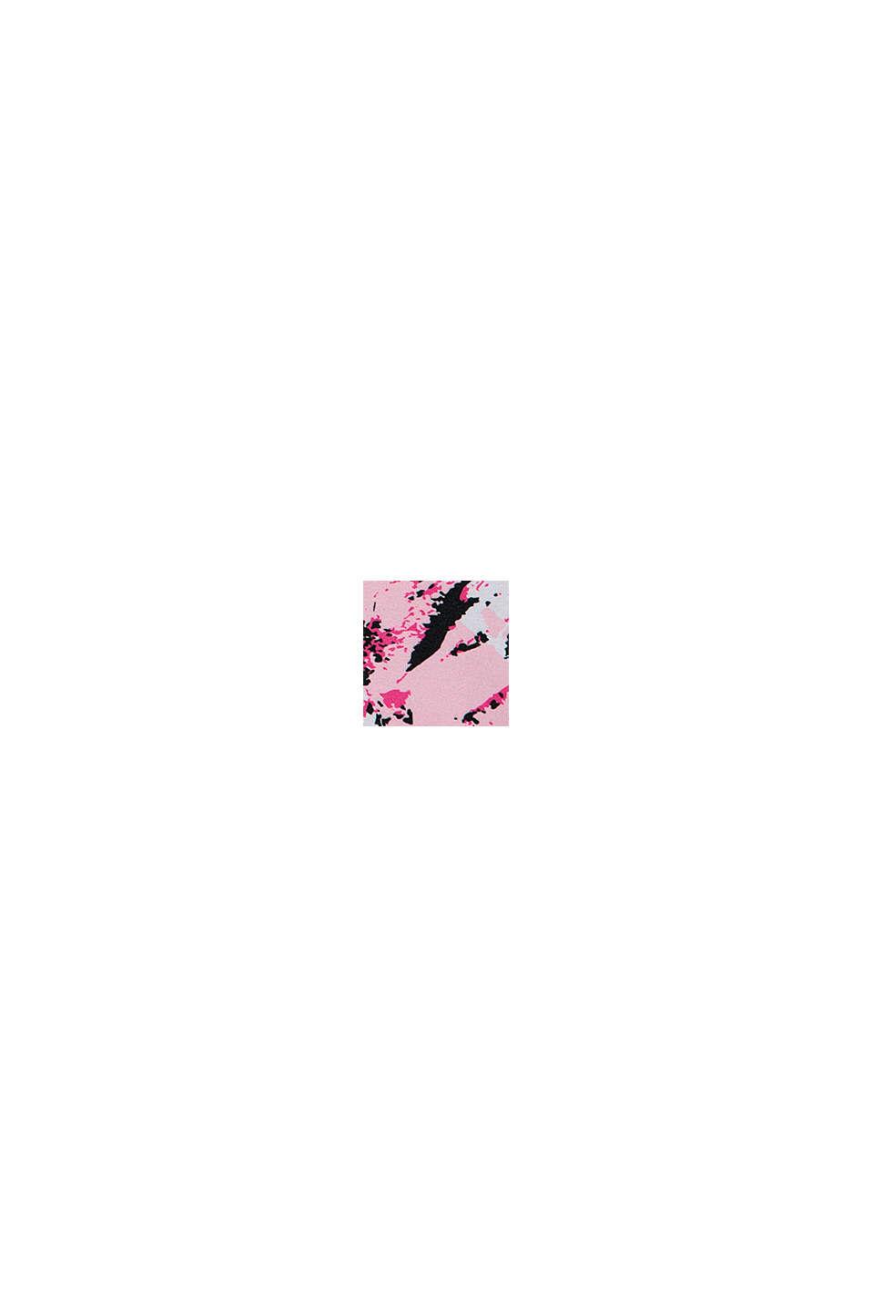 Träningsleggings med färgblock, BLACK, swatch