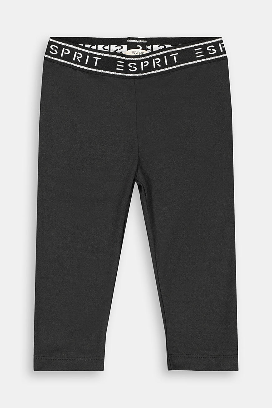 Capri leggings with a glittering logo