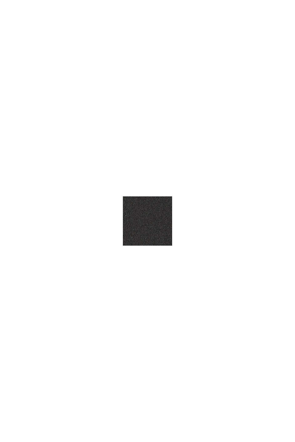 Capri leggings with a glittering logo, BLACK, swatch