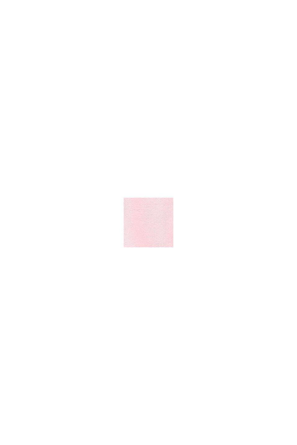 Sweatjurk van 100% katoen met colour block, BLUSH, swatch