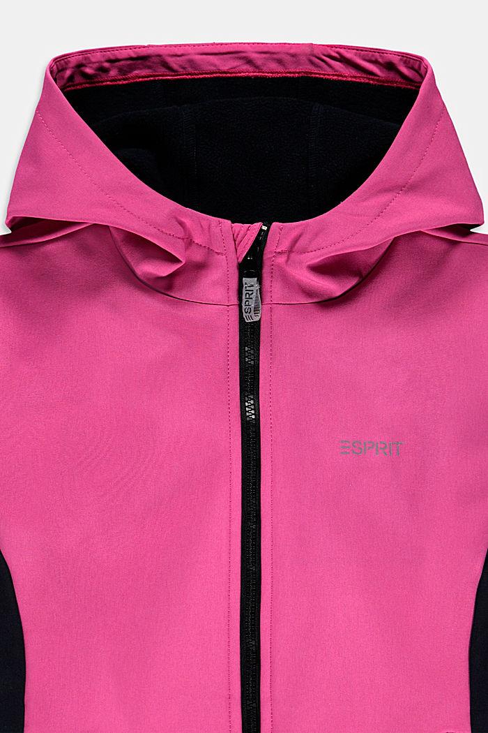 Softshell-Jacke mit Reflektor-Details, PINK, detail image number 2