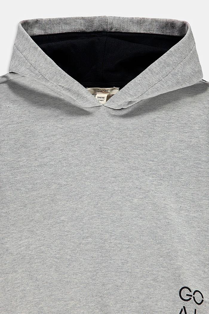 Sweatshirt hoodie in 100% cotton, MEDIUM GREY, detail image number 2