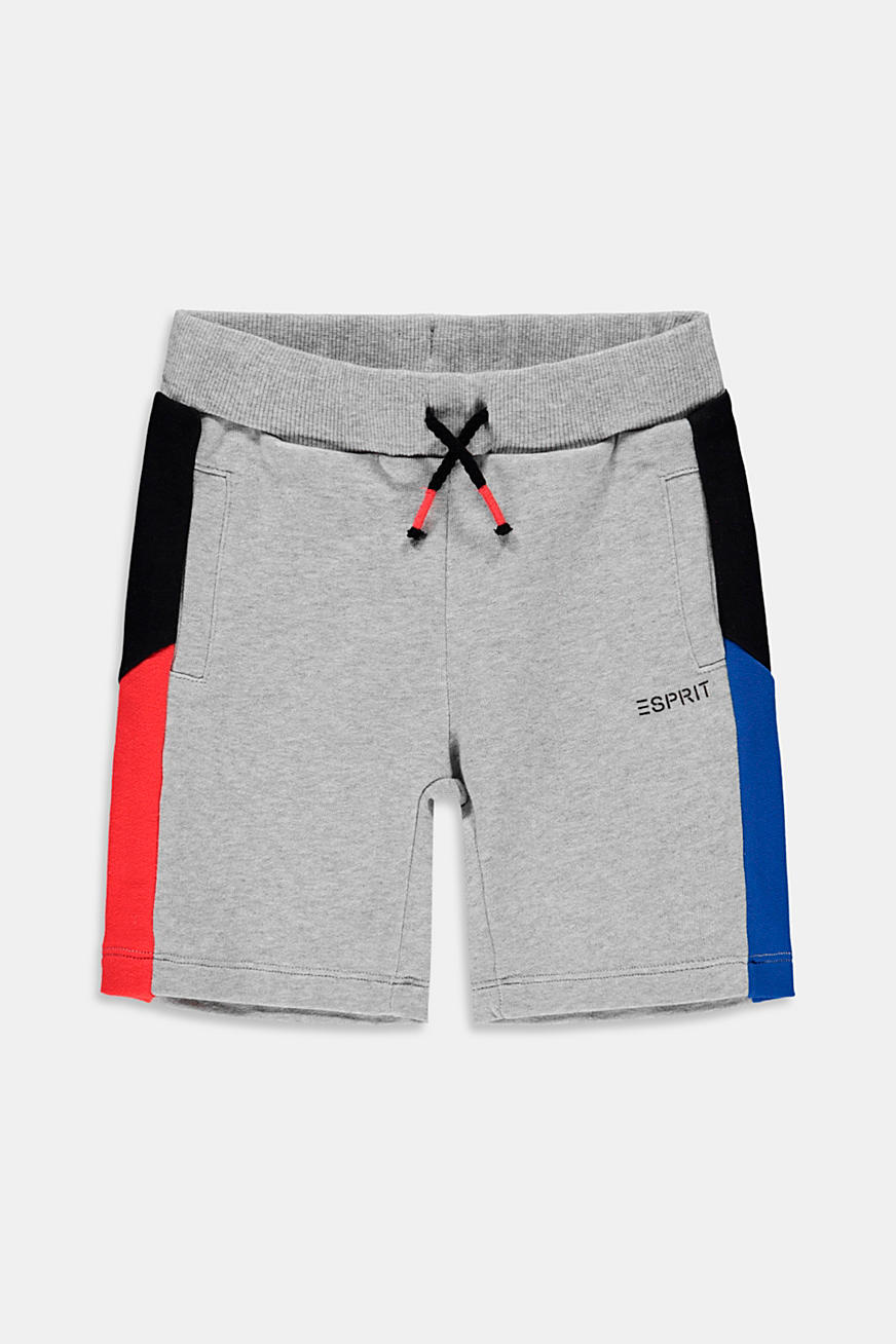 Sweat shorts with side stripes, 100% cotton