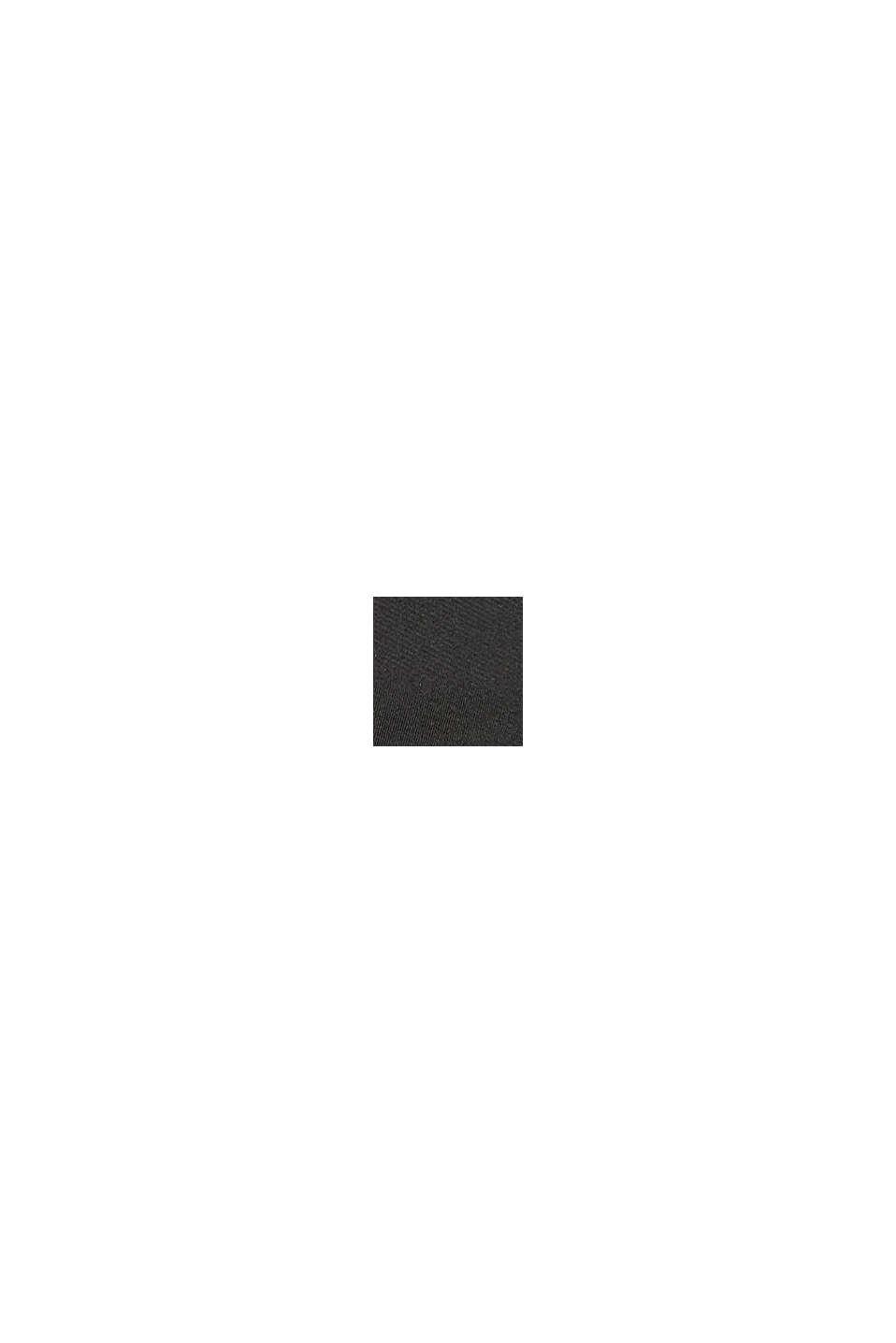 Bermudas aus Sweat mit Mesh-Besatz, BLACK, swatch