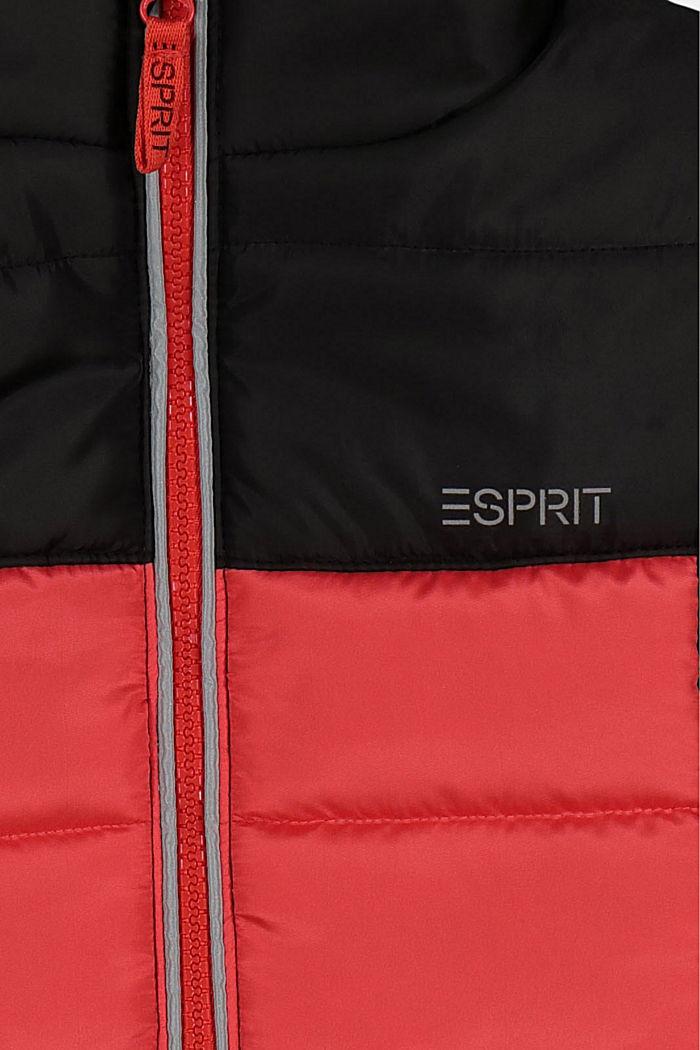 Color Block Steppweste mit Reflektor-Details, BLACK, detail image number 2