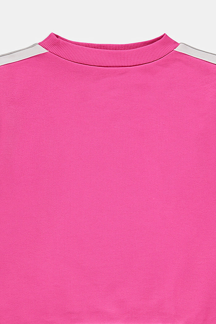 Sweatshirt with striped details, 100% cotton, PINK, detail image number 2