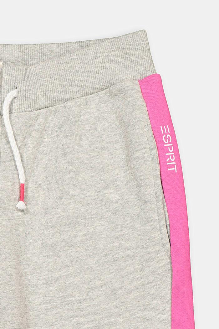 Pantalón de felpa con diseño de bloques de color, 100% algodón, MEDIUM GREY, detail image number 2