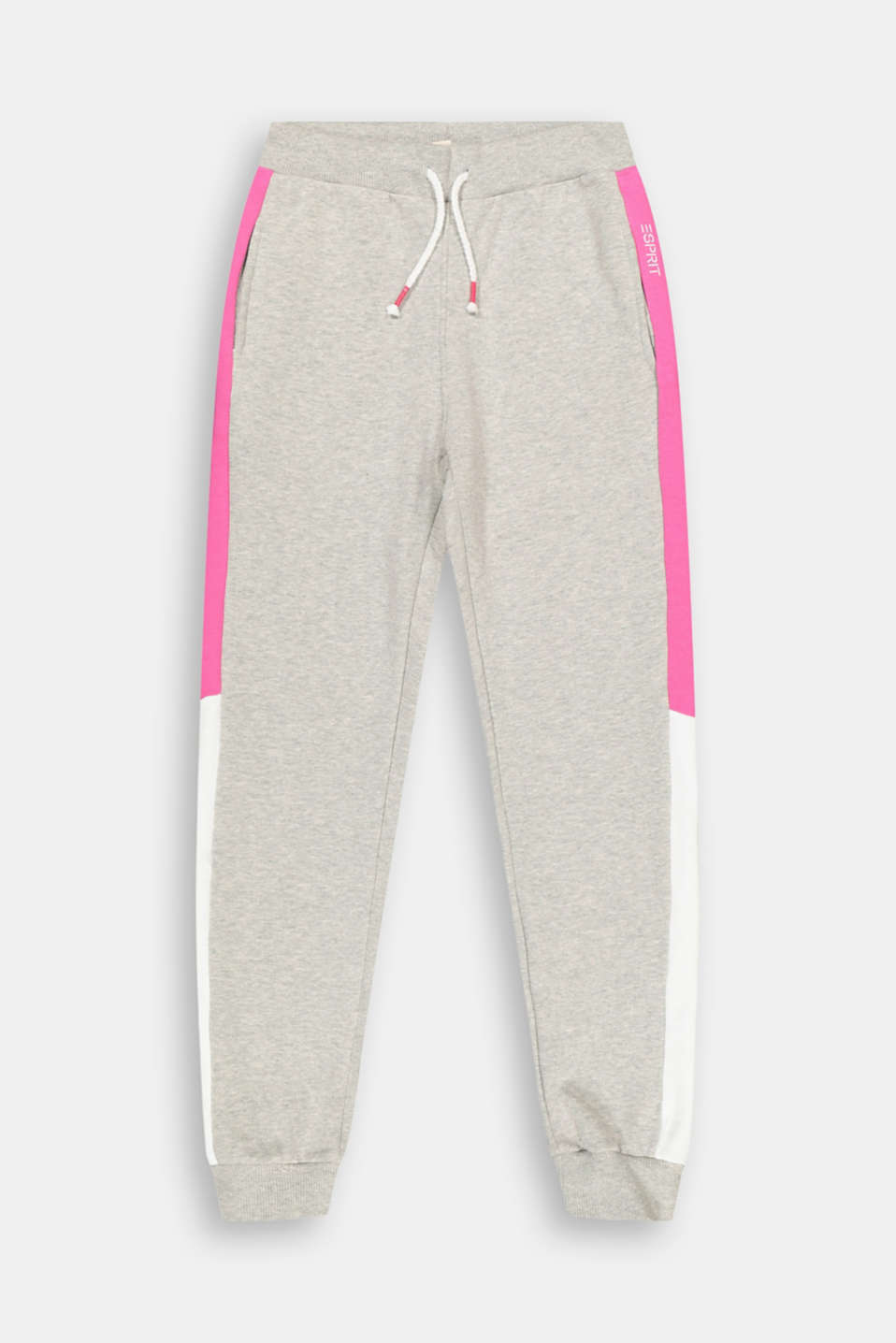 Esprit - Pantalon de jogging au design colour blocking, 100 % coton