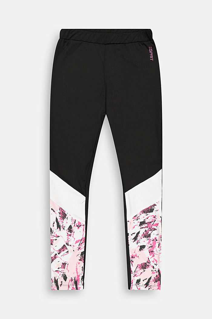 Active-Leggings mit Color Block, BLACK, detail image number 0