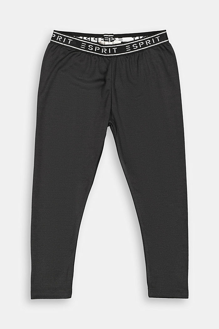 Activewear Capri leggings with a logo waistband