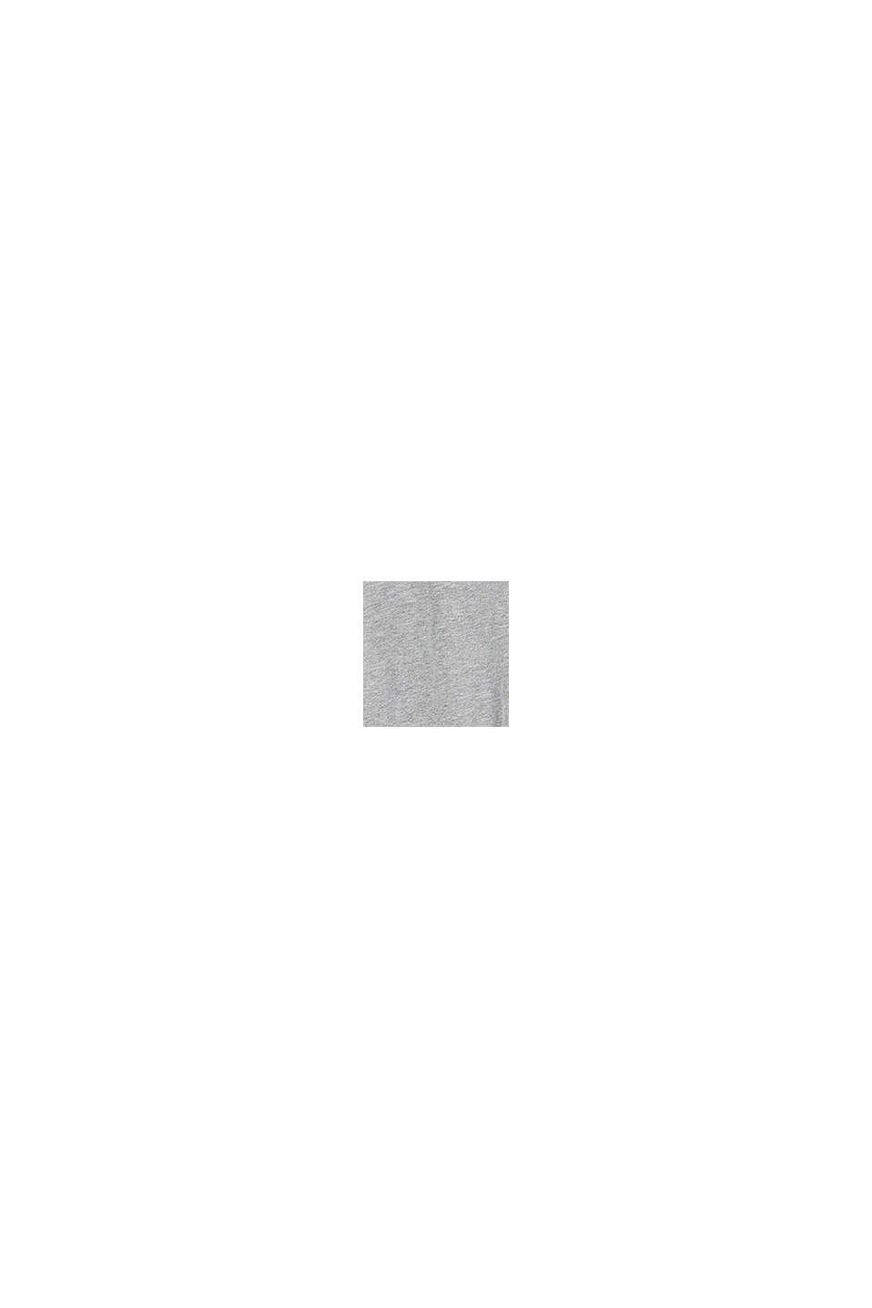 Sweatjurk van 100% katoen met colour block, MEDIUM GREY, swatch
