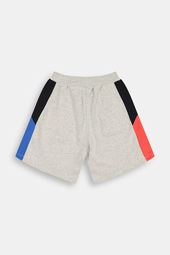 Sweat-Bermudas mit Color Block, 100% Baumwolle