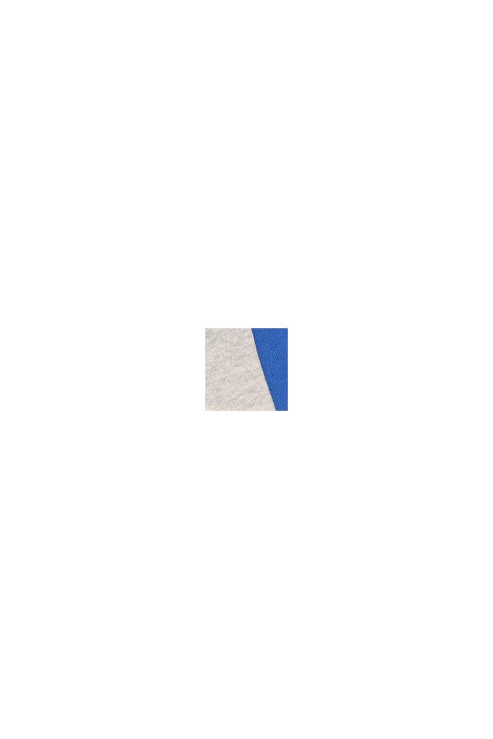 Sweat-Bermudas mit Color Block, 100% Baumwolle, MEDIUM GREY, swatch