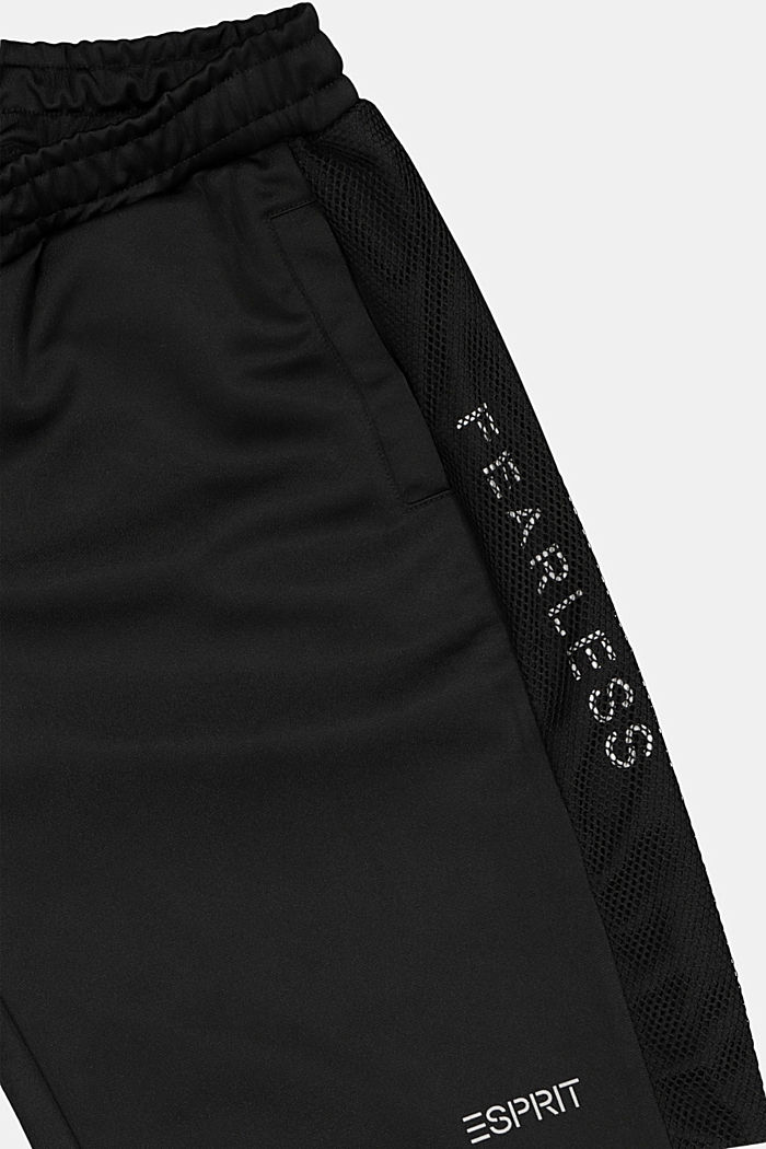 Bermudas in sweatshirt fabric with mesh details, BLACK, detail image number 2