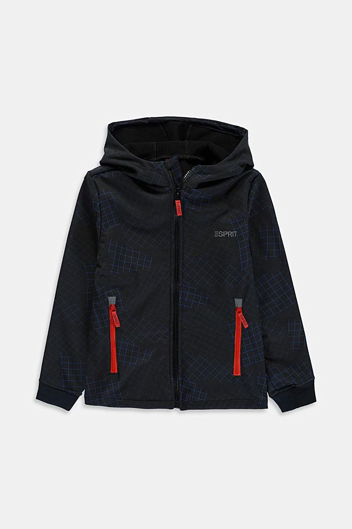 Softshell-Jacke mit Reflektor-Details